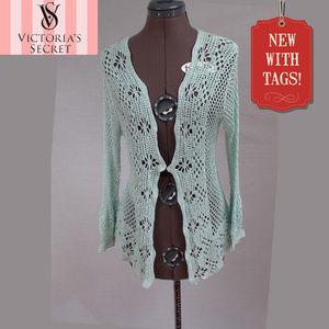NWT Victoria's Secret Croched Cardigan